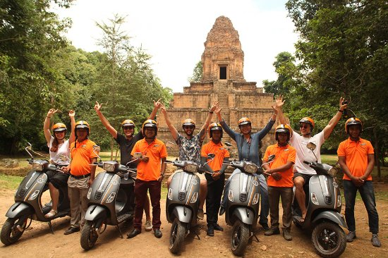 Vespa Adventure Tour at Angkor Wat
